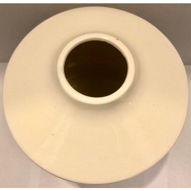 Blue & White Ceramic Vase For Sale - Image 4 of 7