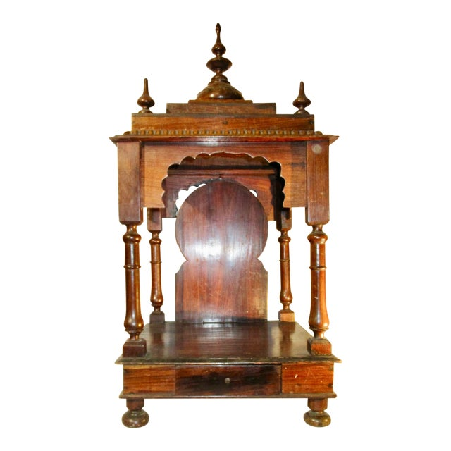 Late 19th Century Vintage Indian Rosewood House Shrine Model For Sale