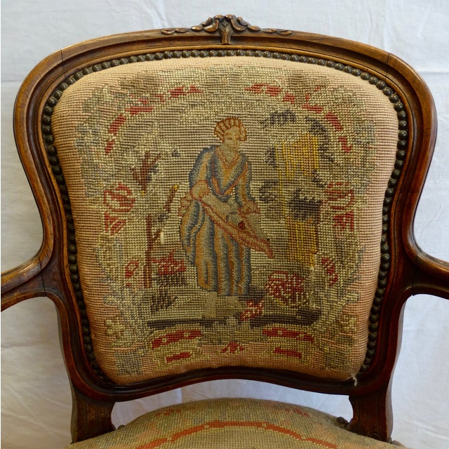 French Needlepoint Armchair - Image 3 of 5