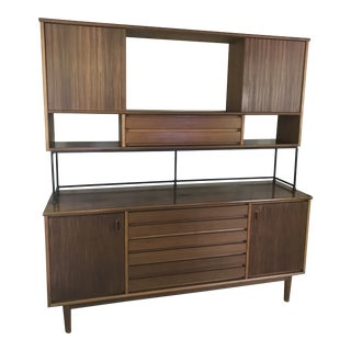 Stanley American Forum Mid-Century Buffet & Hutch