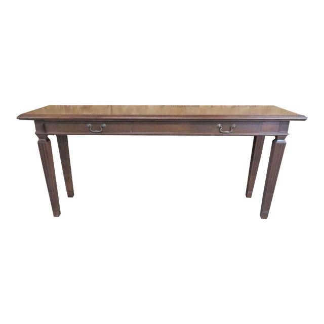 Italian Walnut Console Table For Sale