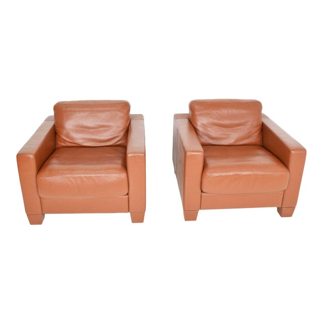 De Sede Leather Lounge Chairs - a Pair For Sale