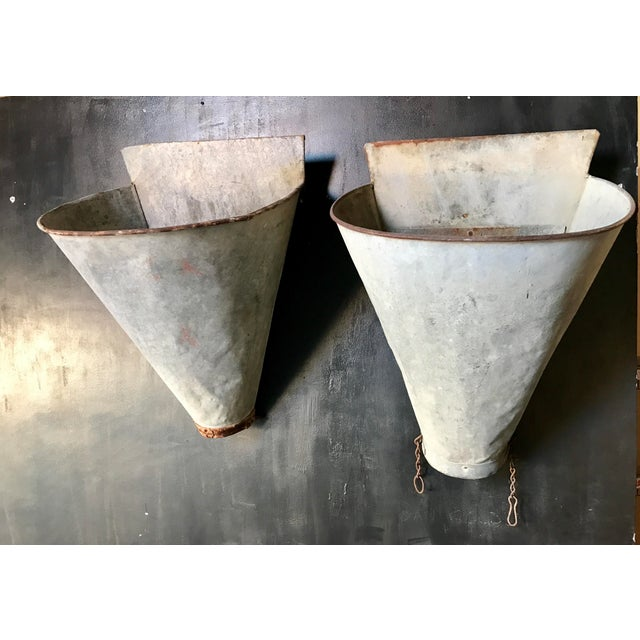 Vintage French Zinc Harvest Bins - A Pair - Image 3 of 8