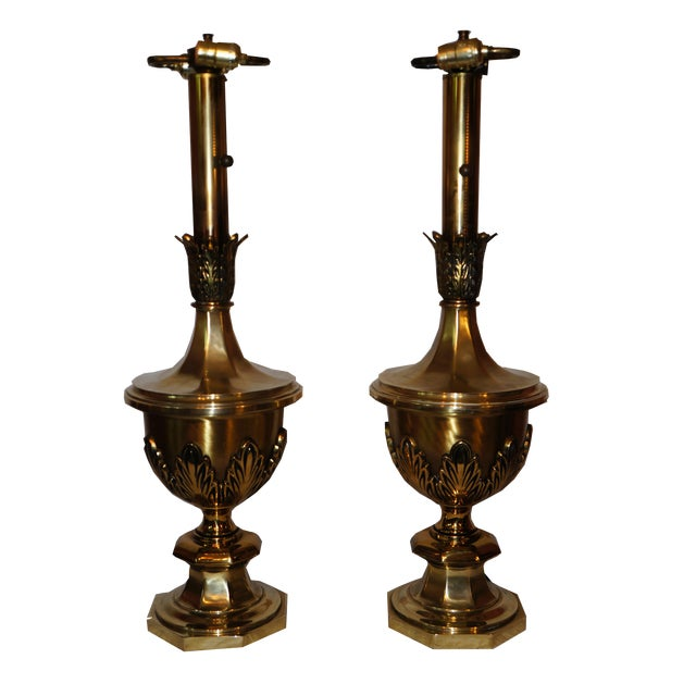 Stiffel Hollywood Regency Table Lamps - A Pair For Sale