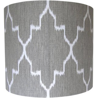 Geometric Ikat Drum Lamp Shade