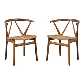 Henning Kjærnulf for Bruno Hansen Model 255 Teak Chairs - A Pair