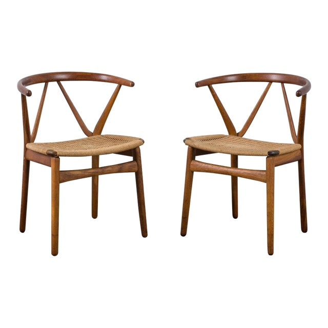Henning Kjærnulf for Bruno Hansen Model 255 Teak Chairs - A Pair For Sale