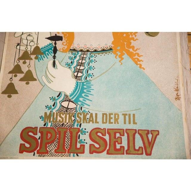 Vintage Modernist Art Poster by Bjorn Wiinblad - Image 3 of 4