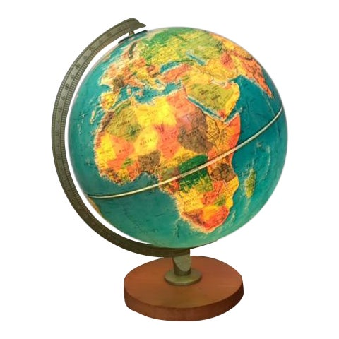Vintage Replogle Light Up Globe with Relief - Image 1 of 5