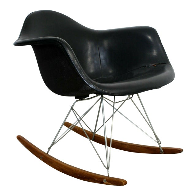 Mid Century Modern Early Charles Eames Eiffel Tower Rocker Rocking Chair 1950s For Sale