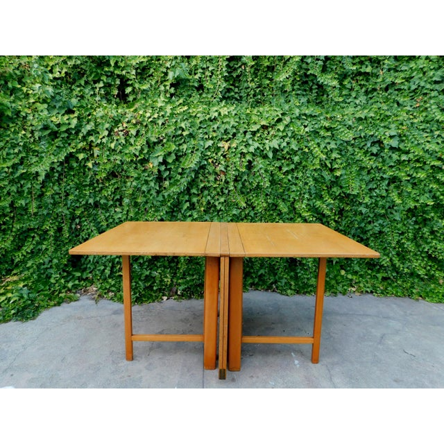 Bruno Mathsson 1937 Swedish Bruno Mathsson Folding Table For Sale - Image 4 of 12