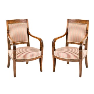 1820 Italian Empire Walnut Chairs