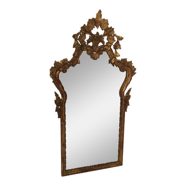 Antique Italian Gothic Gold Leaf Mirror - Image 1 of 11