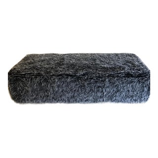 Charles Carol Designs Faux Fur Ottoman For Sale