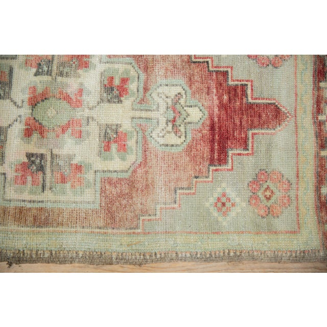 """Old New House Vintage Distressed Oushak Rug Mat Runner - 1'7"""" X 3'6"""" For Sale - Image 4 of 8"""