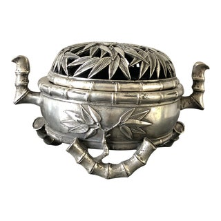 Chinese Silver Incense Burner For Sale