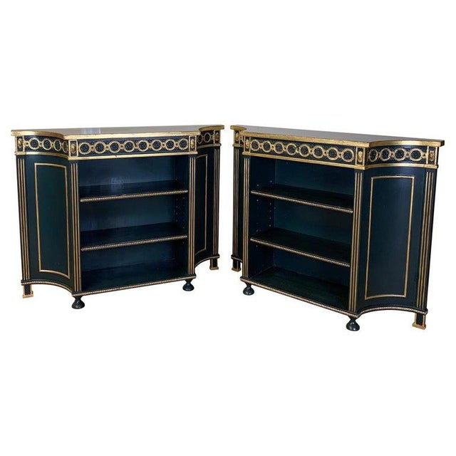 Pair of Regency Style Bookcases For Sale - Image 12 of 12