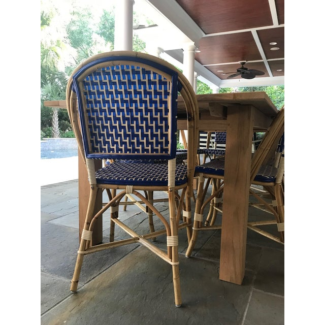 French Bistro Indoor / Outdoor Chairs - Set of 10 For Sale - Image 4 of 5