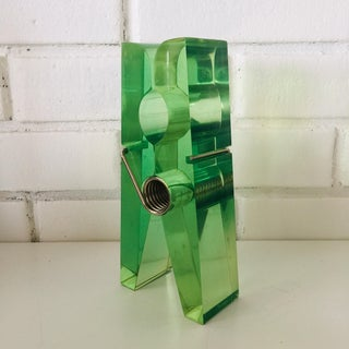 Giant Green Lucite Clothespin Preview