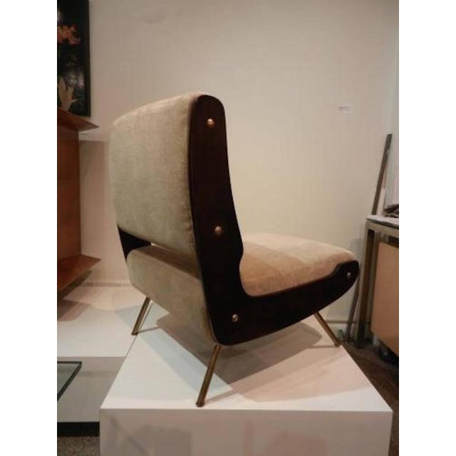 Gianfranco Frattini Pair of Slipper Chairs For Sale In New York - Image 6 of 10