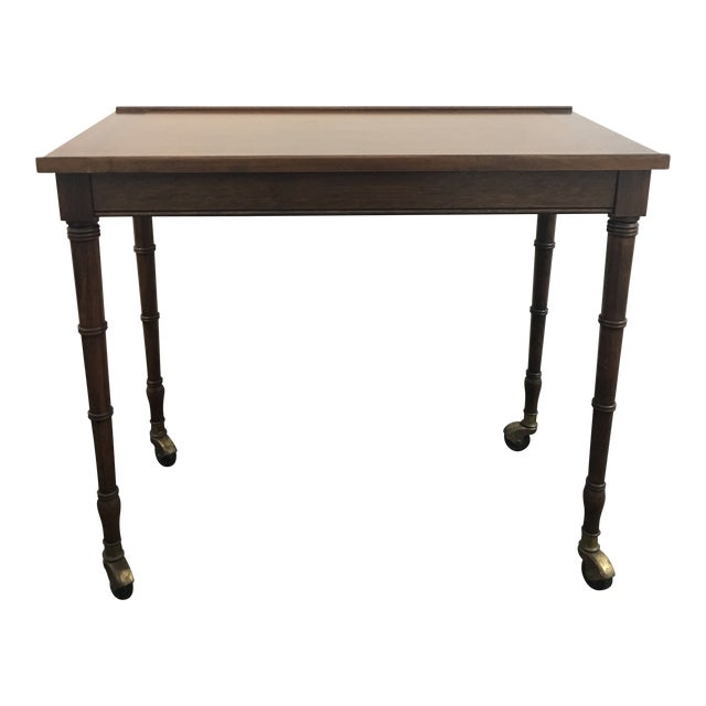 1960s Chinoiserie Faux Bamboo Table With Tilt Top For Sale