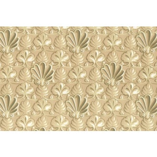 Vintage Bassett McNab Latte Shell Wallpaper - 10 Yard Roll For Sale
