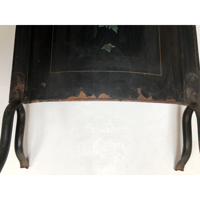 1940s Vintage Belgian Hand Painted Fireplace Screen For Sale In Dallas - Image 6 of 9