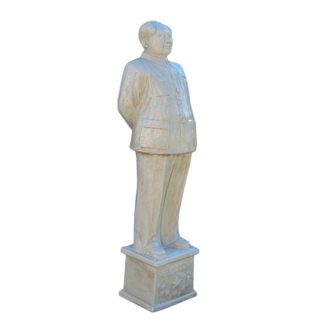 Asian Chinese Large Porcelain White Standing Chairman Mao Figure cs1212 For Sale - Image 3 of 7