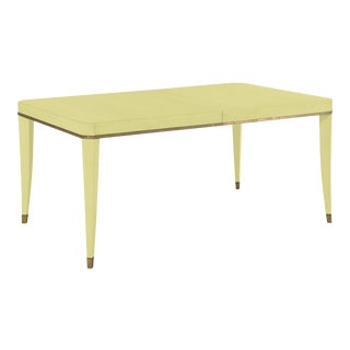 Sutton Dining Table, Pale Avocado For Sale