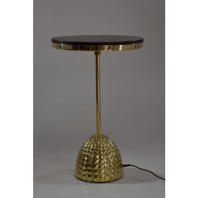 Metal Unio Contemporary Brass Charging Table, Flow Collection For Sale - Image 7 of 12