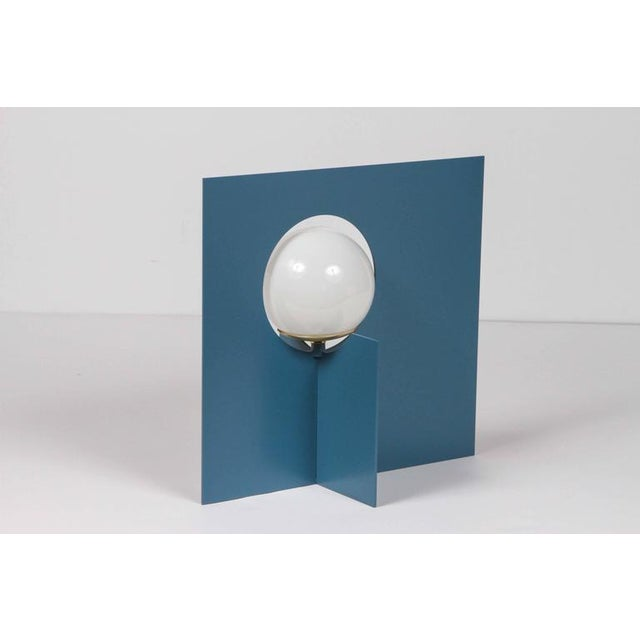 Contemporary Paul Marra Steel Intersection Table Lamp For Sale - Image 3 of 6