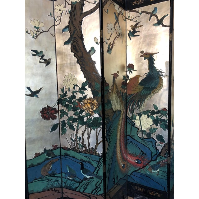 Early 20th Century 8-Panel Coromandel Screen For Sale In Sacramento - Image 6 of 13