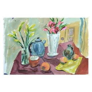 Kitchen Watercolor Still Life For Sale
