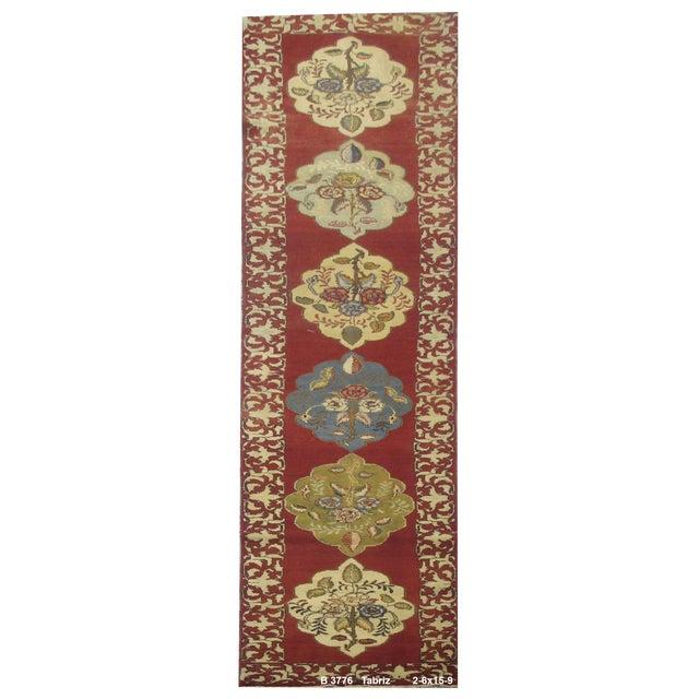 Vintage Persian Tabriz Rug - 2'6''x15'9'' For Sale