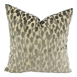 """Villa Nova Helliar in Granite Velvet Pillow Cover - 20"""" X 20"""" For Sale"""