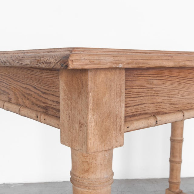 French Antique Faux Bamboo Dining Table For Sale - Image 3 of 5