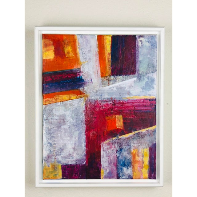 Canvas Contemporary Abstract Acrylic Painting, Framed For Sale - Image 7 of 7