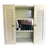 Image of 1950's Vintage Wall Mounted Cabinet With Mirror For Sale