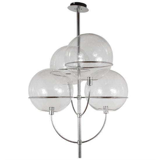 Chrome 1970s Fixture in the Manner of Vico Magistretti For Sale - Image 8 of 8