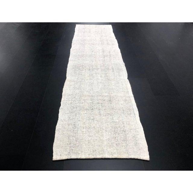 1960s 1960s Vintage Turkish Wool Handmade Nomadic Kilim Runner Rug - 2′6″ × 9′8″ For Sale - Image 5 of 11