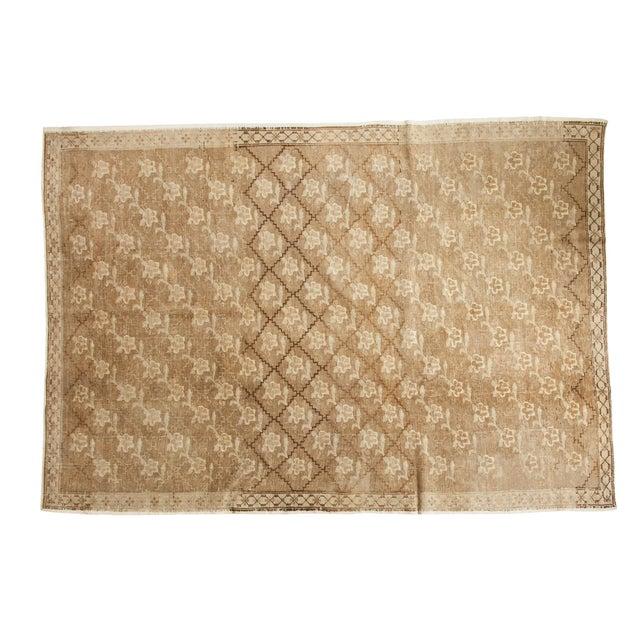 Vintage Oushak Carpet - 7′5″ × 10′8″ For Sale