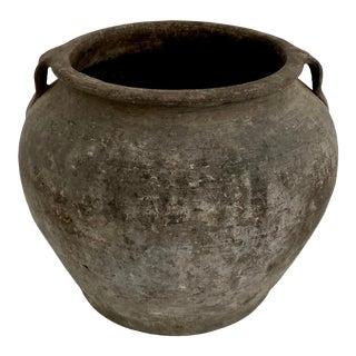 Antique Matte Black Pottery Jug For Sale