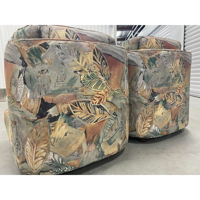 Palm Beach Style Chairs and Ottoman For Sale In Tampa - Image 6 of 7