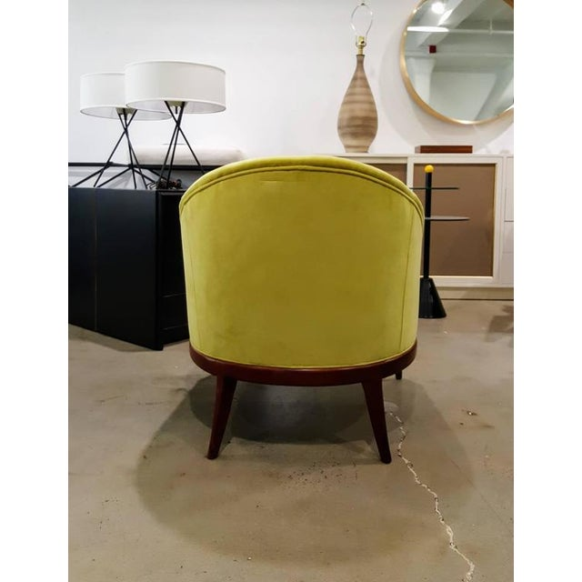 1960s Chartruese Velvet Slipper Chair - Image 6 of 7