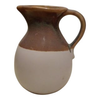 White & Brown Earthenware Pitcher