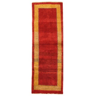 "Traditional Pasargad N Y Genuine Persian Gabbeh Rug - 2′5″ × 7′1"" For Sale"