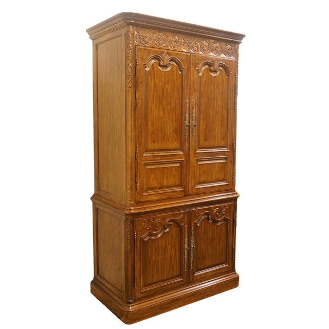 French Heritage Avallon Collection Country French Media Armoire For Sale - Image 3 of 13