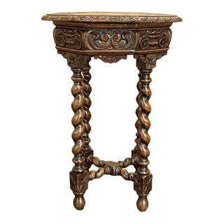 Antique French Renaissance Octagonal End Table For Sale