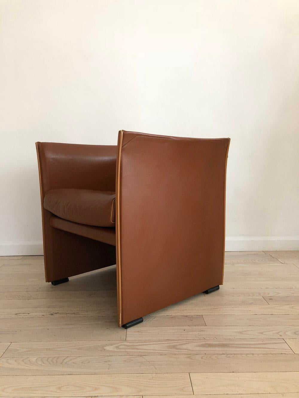 Mario Bellini For Cassina Brown Leather 401 Break Chair   Image 6 Of 13