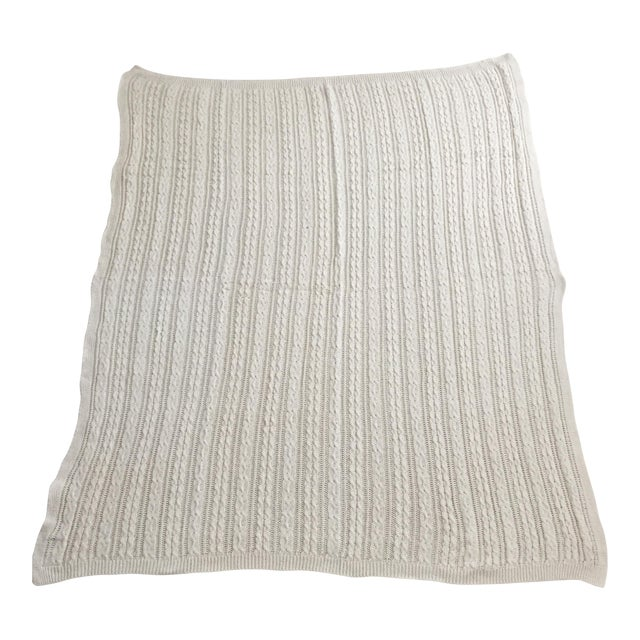 Ivory Cable Knit Throw - Image 1 of 3